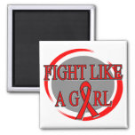 Heart Disease Fight Like A Girl Circular Magnet