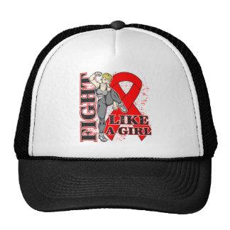 Heart Disease Fight Like A Girl Kickin Butt Trucker Hat