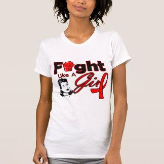 Heart Disease Fight Like A Girl - Retro Girl T Shirts