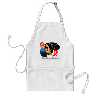 Heart Disease Fight Like a Girl Rosie The Riveter Adult Apron