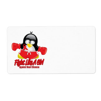 Heart Disease Fighting Penguin Label