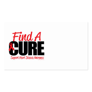 Heart Disease Find A Cure Business Card Template