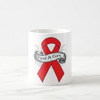Heart Disease Find A Cure Ribbon Mug