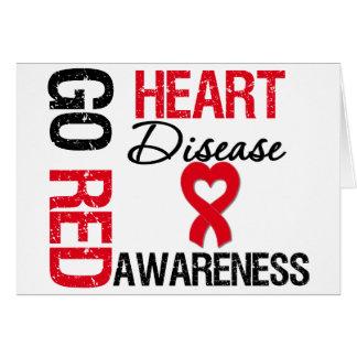 Heart Disease GO RED Card