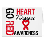 Heart Disease GO RED Greeting Card