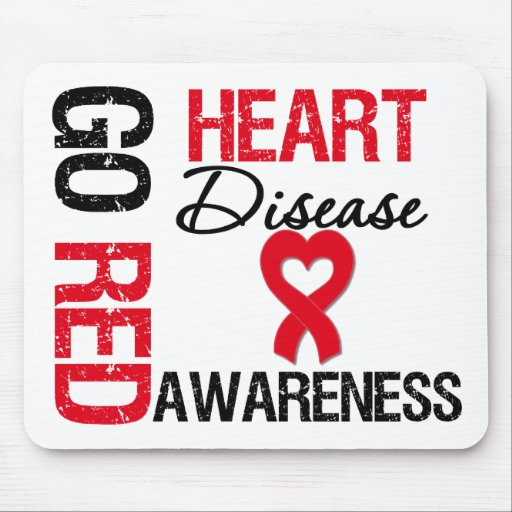 Heart Disease GO RED Mouse Mats