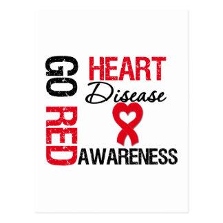 Heart Disease GO RED Postcard