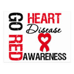 Heart Disease GO RED Postcards