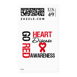 Heart Disease GO RED Stamp