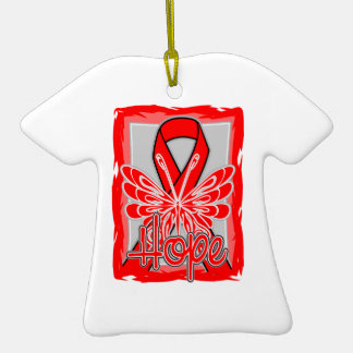 Heart Disease Hope Butterfly Christmas Tree Ornament