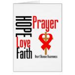 Heart Disease Hope Love Faith Prayer Cross Card