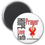 Heart Disease Hope Love Faith Prayer Cross Refrigerator Magnets