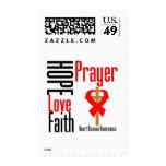 Heart Disease Hope Love Faith Prayer Cross Stamps
