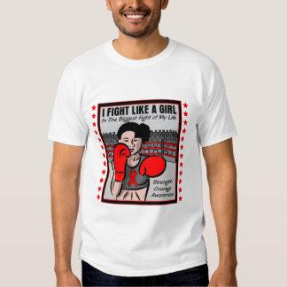 Heart Disease I Fight Like A Girl Battle Tshirt