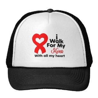 Heart Disease I Walk For My Hero Trucker Hat