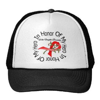 Heart Disease In Honor Of My Hero Trucker Hats
