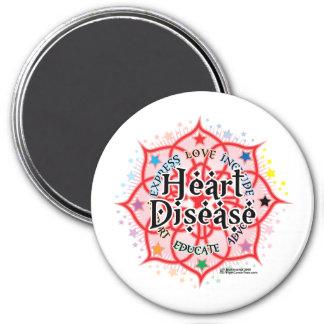 Heart Disease Lotus Magnet