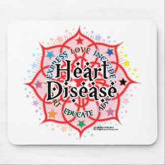 Heart Disease Lotus Mouse Pad