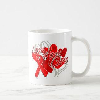Heart Disease Love Hope Cure Coffee Mugs