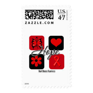 Heart Disease Love Inspire Awareness Postage Stamp