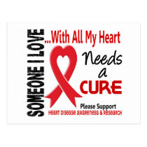 Heart Disease Needs A Cure 3 Postcard