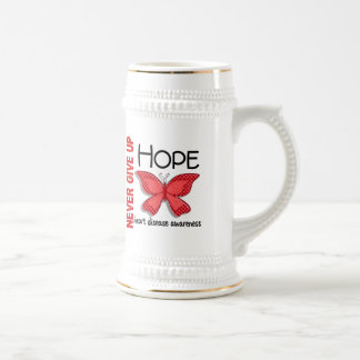 Heart Disease Never Give Up Hope Butterfly 4.1 Mugs
