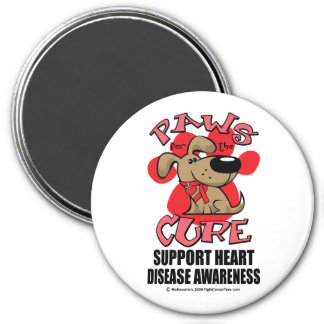 Heart Disease Paws for the Cure Magnet