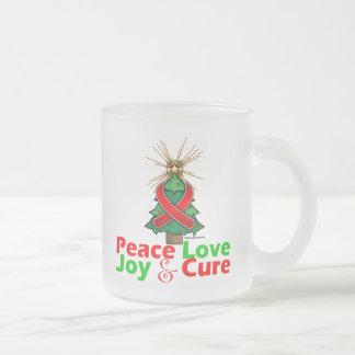 Heart Disease Peace Love Joy Cure Mugs