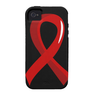 Heart Disease Red Ribbon 3 Case-Mate iPhone 4 Cases