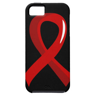 Heart Disease Red Ribbon 3 iPhone 5 Cases