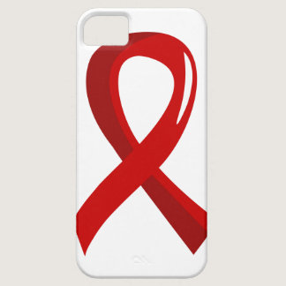 Heart Disease Red Ribbon 3 iPhone SE/5/5s Case