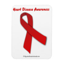 Heart Disease Red Ribbon Magnet