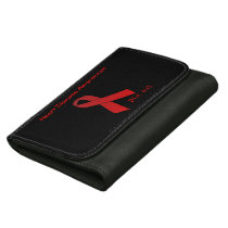 Heart Disease Red Ribbon Wallet