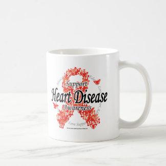 Heart Disease Ribbon of Butterflies Coffee Mug