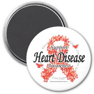Heart Disease Ribbon of Butterflies Magnet
