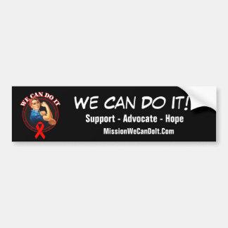 Heart Disease - Rosie The Riveter - We Can Do It Car Bumper Sticker