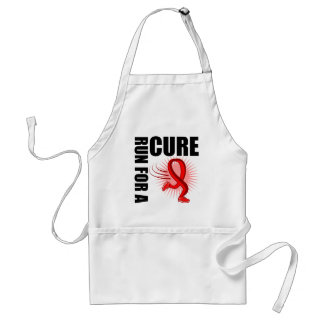 Heart Disease Run For A Cure Adult Apron