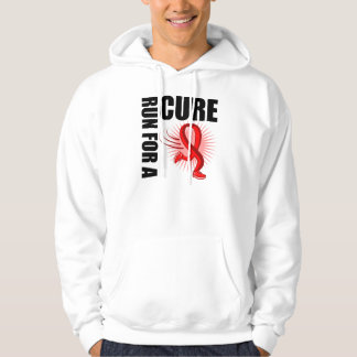 Heart Disease Run For A Cure Hooded Pullover