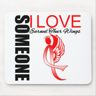 Heart Disease Someone I Love Earned Their Wings Mousepads