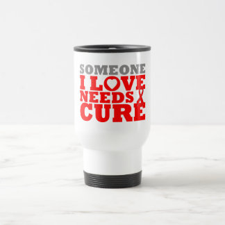 Heart Disease Someone I Love Needs A Cure Coffee Mugs