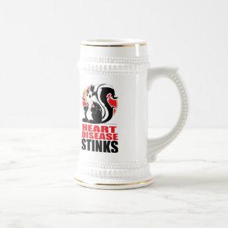Heart Disease Stinks Beer Stein