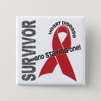 Heart Disease Survivor Pinback Button