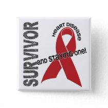 Heart Disease Survivor Pinback Button