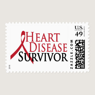 Heart Disease Survivor Postage