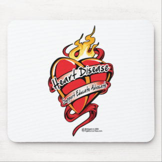 Heart Disease Tattoo Heart Mouse Pads