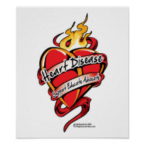 Heart Disease Tattoo Heart Poster