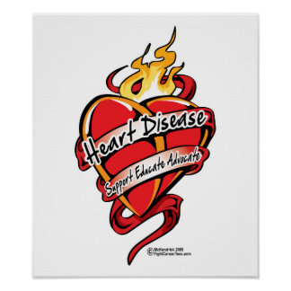 Heart Disease Tattoo Heart Poster