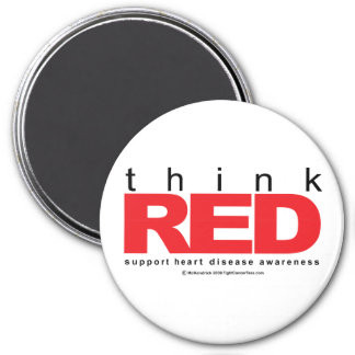 Heart Disease THINK Red Magnet