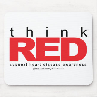 Heart Disease THINK Red Mouse Pad