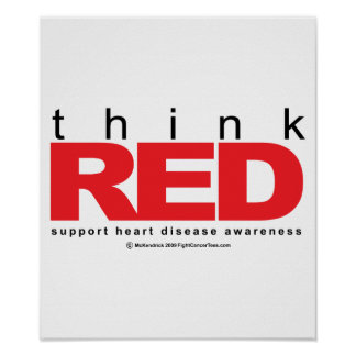 Heart Disease THINK Red Poster